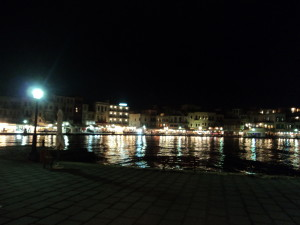 CHania Harbour Lights