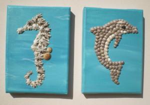 Small Seashell Mosaics - 13 x 18cms