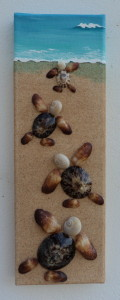 Baby Turtles Race to the Sea Mosaic - 10 x 30cms