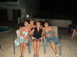 The four of us at Leonie's home in Cyprus last year
