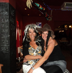 Lisa and I at Captain Jack's, Almyrida