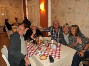 Fine Dining - Derek, Nancy, Bob, Jackie and me!