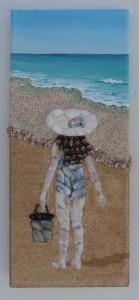 Beach Girl - 15 x 35cms
