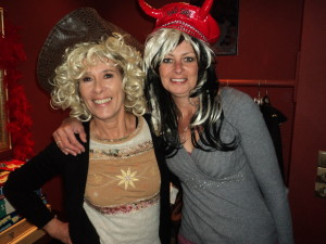 Lisa and I just can't resist the wigs and hats!