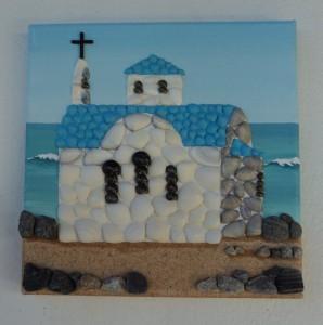 Seashell Mosaic of Little Blue Chapel