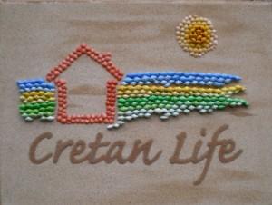 Old Cretan Life Company Logo in Seassell Mosaic & Sand