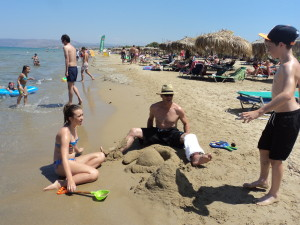 Fun at Georgioupoli beach
