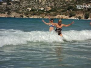 Waves at Almyrida Beach