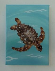 Sea Turtle Mosaic - 13 x 18cms
