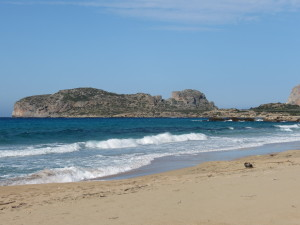 Part of the sandy beach at Falasarna
