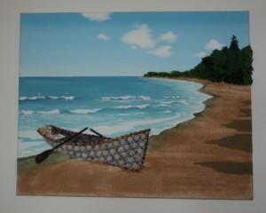 New Design - Seashell Mosaic/Collage 40 x 50cms