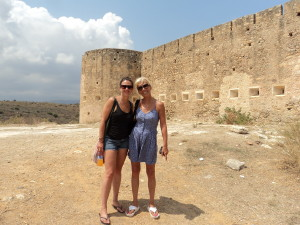 Zoe & I outside the huge fortress at the ancient city of Aptera