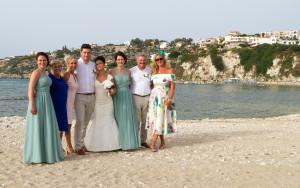 On the beach in Almyrida
