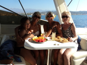 From left to right - Alicia, me, Jenny and Carolyn