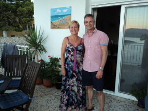 Annette and Ian on my balcony