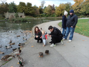At the park with the ducks