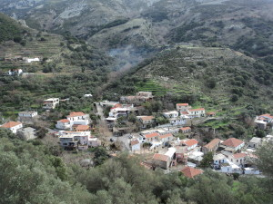 On the way back from Elafonisis - An old Greek mountain village, taken from the road above.
