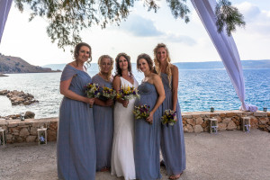 Zoe with her Bridesmaids