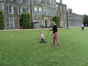 Playing Polo with gorgeous Grandson Ralph at Aynhoe Park