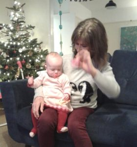 Christmas Day and playing with Neve