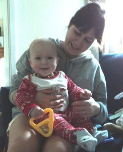 Happy Baby Neve with her Aunty Zoe!