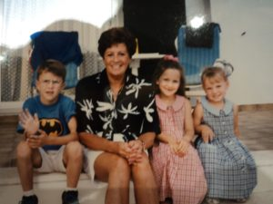 Mum with 3 of her 12 Grandchildren