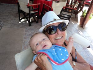 Mum with Great Grandson Ralph - Crete May 2016