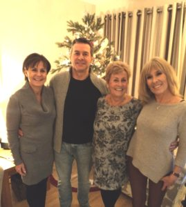 Christmas in the UK 2016 - Mum with her 3 eldest - Karen, Mark & Me