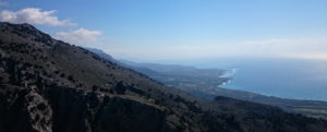 The view from the mountain which leads down to Frangokastello