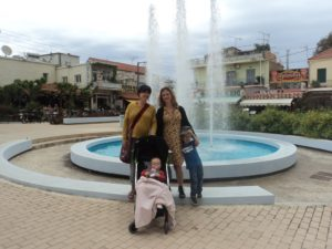 All my precious jewels - infront of the fountain in Georgioupoli square