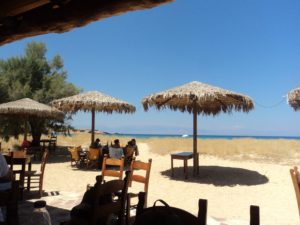 On Gavhdos - the Taverna at the edge of the beach where we all had lunch.