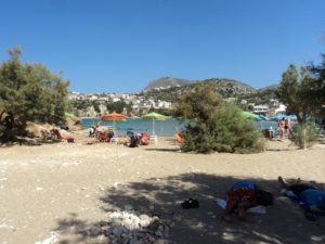 The far beach in Almyrida, so pretty and much quieter!