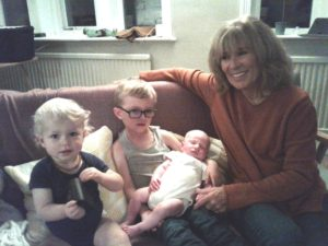 With my gorgeous three Grandchildren, Ralph, Neve and Arthur