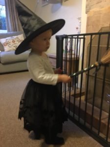 Neve... cute little witch at Halloween!