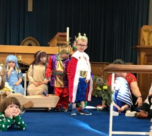 Ralph as one of the three Kings in his first Nativity Play.