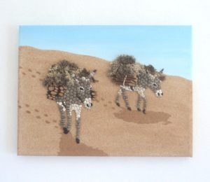 Greek Donkeys - sold this August 30 x 40cms