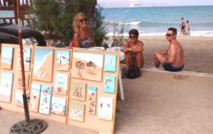 Selling by the beach in Kalyves