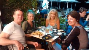 Dinner by the beach in Kalyves with Lisa and Debbie