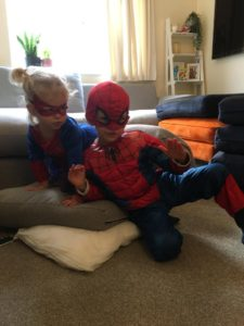 Ralph & Neve dressed as super heroes!
