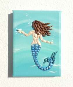 Little Mermaid - 13 x 18cms - Available to purchase from my Etsy shop
