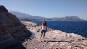 On the craggy cliffs of Plaka's coastline