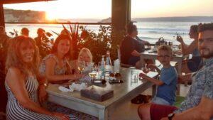 Enjoying our meal at Elia in Almyrida